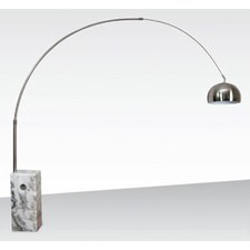 Arc Floor Lamps with Block Base