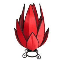 Artichoke Table Lamp in Red and Black
