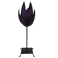 Artichoke Table Lamp in Purple and Black Trim
