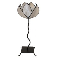 Waterlily Floor Lamp in White and Black