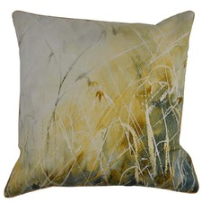 Brown Grass Cotton Cushion