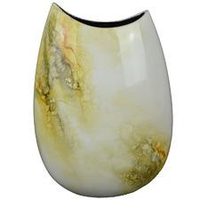 Medium Ivory Elements Lacquer Flat Vase