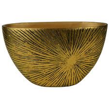 37cm Antique Gold Jardiniere Decorative Bowl