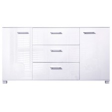 High Gloss Sideboard Storage Cabinet Cupboard