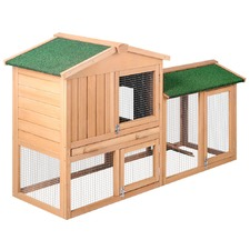 Pet Hutch with Large 2 Storey Run