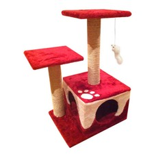 Cat Scratching Poles Tree Red