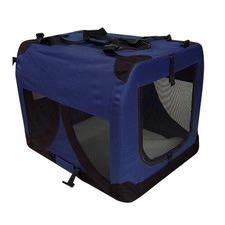 Large Pet Dog Soft Crate Blue