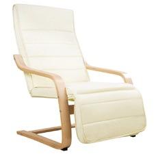 Birch Bentwood Adjustable Recliner Armchair