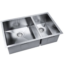 Rectangular Kitchen / Laundry Sink with Strainer Waste