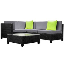 5 Piece PE Rattan Modular Outdoor Lounge Set