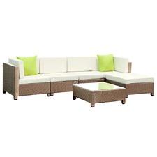 6 Piece Outdoor PE Rattan Lounge Set