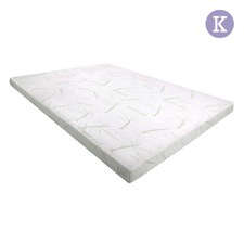 Cool Gel Memory Foam Mattress Topper with Bamboo Fabric Cover