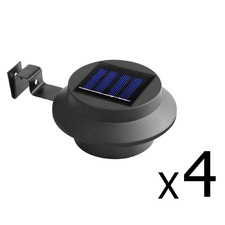 LED Solar Powered Fence Gutter Lights (Set of 4)