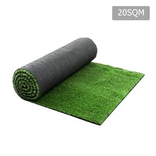Artificial Grass 20 SQM Polyethylene Lawn Flooring 15mm Olive