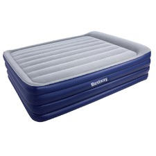 Bestway Queen Inflatable Air Mattress Bed w/ Air Pump Blue