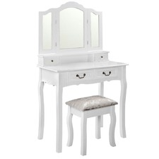 White Adele Dressing Table & Stool