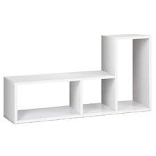 White DIY L Shaped Display Shelf