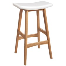 White Saddle Barstools (Set of 2)