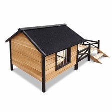 Deluxe Dog Kennel with Patio