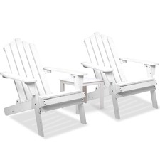 3 Piece Set Adirondack Chairs & Side Table