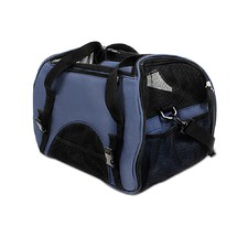 Blue Portable Pet Carrier with Safety Leash