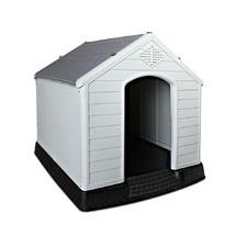 Large Grey Dog Kennel