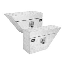 Aluminium Under Tray Tool Boxes (Set of 2)
