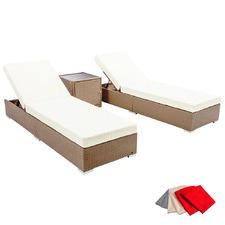 3 Piece Bilbao Outdoor PE Rattan Lounge Set