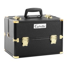 Black & Gold Make Up Cosmetic Beauty Case