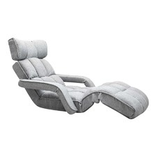Grey Single Size Lounge Chair with Arms