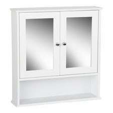 White Toilet Mirror Medicine Storage Cabinet