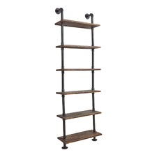 Industrial 6 Level Floating Pipe Shelf