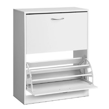 2 Door 24 Pair Shoe Cabinet