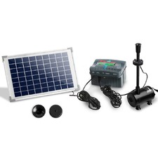 800L/H Solar Powered Submersible Rechargeable Fountain Pump