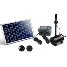 1600L/H Solar Powered Submersible Rechargeable Fountain Pump