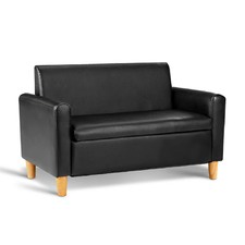 Child's Faux Leather 2 Seater Sofa