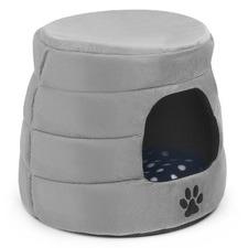 Grey Pet Cave Bed