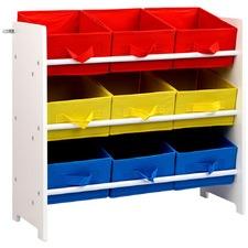 9 Drawer Adjustable Fabric Toy Box Shelf