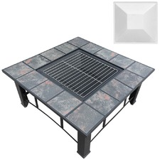 Outdoor Fire Pit BBQ Table Grill Fireplace