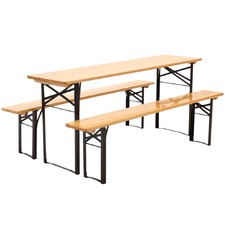 6 Seater Outdoor Foldable Table & Bench Set