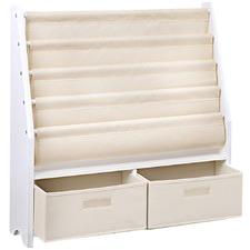 White Wooden 4 Tier Kids' Bookshelf