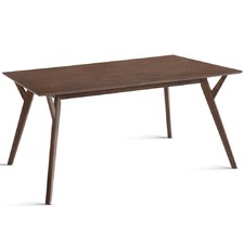4 Seater Walnut Wood Timber Dining Table