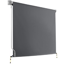 Grey Retractable Roll Down Awning
