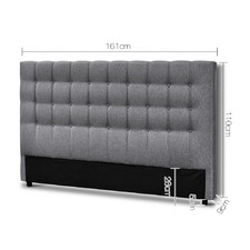 Grey Jose Upholstered Headboard