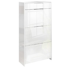 Mercier High Gloss Wooden Shoe Cabinet