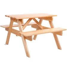 Natural Kids' Wooden Picnic Table & Bench