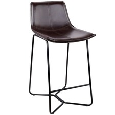 Black Adolin Bonded Leather Barstools (Set of 2)
