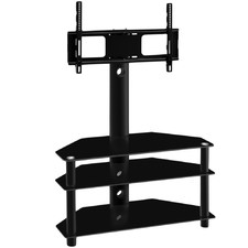 3 Tier TV Floor Stand with Shelf Mount