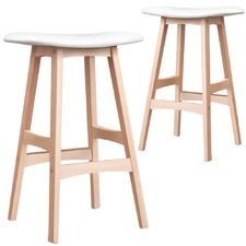 White Ella Curve Barstools (Set of 2)