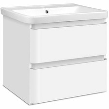 White Gladwell Ceramic Basin with Cabinet